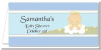 Angel in the Cloud Boy - Personalized Baby Shower Place Cards