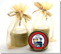 Animal Train - Baby Shower Gold Tin Candle Favors