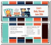 Animal Train - Personalized Baby Shower Candy Bar Wrappers
