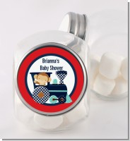 Animal Train - Personalized Baby Shower Candy Jar