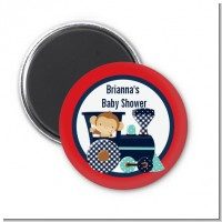 Animal Train - Personalized Baby Shower Magnet Favors
