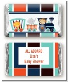 Animal Train - Personalized Baby Shower Mini Candy Bar Wrappers