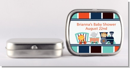 Animal Train - Personalized Baby Shower Mint Tins