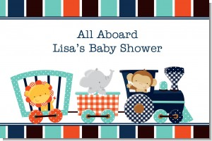 Animal Train - Personalized Baby Shower Placemats