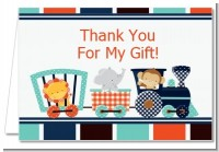 Animal Train - Baby Shower Thank You Cards