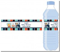 Animal Train - Personalized Baby Shower Water Bottle Labels