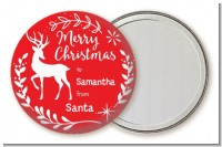 Festive Antlers - Personalized Christmas Pocket Mirror Favors