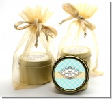 Aqua & Yellow - Graduation Party Gold Tin Candle Favors
