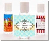 Aqua & Yellow - Personalized Graduation Party Hand Sanitizers Favors