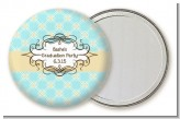 Aqua & Yellow - Personalized Graduation Party Pocket Mirror Favors