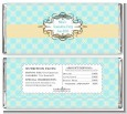 Aqua & Yellow - Personalized Graduation Party Candy Bar Wrappers thumbnail