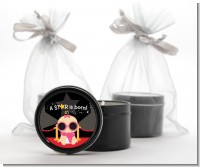 A Star Is Born Baby - Baby Shower Black Candle Tin Favors
