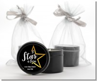 A Star Is Born - Baby Shower Black Candle Tin Favors