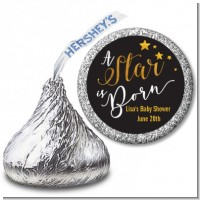 A Star Is Born Gold - Hershey Kiss Baby Shower Sticker Labels