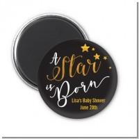 A Star Is Born Gold - Personalized Baby Shower Magnet Favors