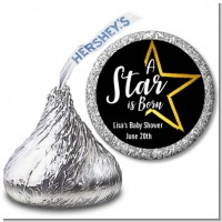 A Star Is Born - Hershey Kiss Baby Shower Sticker Labels