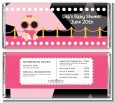 A Star Is Born Hollywood Black|Pink - Personalized Baby Shower Candy Bar Wrappers thumbnail