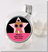 A Star Is Born Hollywood Black|Pink - Personalized Baby Shower Candy Jar