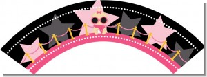 A Star Is Born Hollywood Black|Pink - Baby Shower Cupcake Wrappers