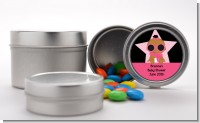 A Star Is Born Hollywood Black|Pink - Custom Baby Shower Favor Tins