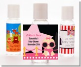 A Star Is Born Hollywood Black|Pink - Personalized Baby Shower Hand Sanitizers Favors