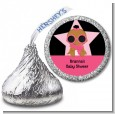 A Star Is Born Hollywood Black|Pink - Hershey Kiss Baby Shower Sticker Labels thumbnail