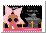 A Star Is Born Hollywood Black|Pink - Baby Shower Petite Invitations
