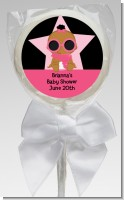 A Star Is Born Hollywood Black|Pink - Personalized Baby Shower Lollipop Favors