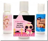 A Star Is Born Hollywood Black|Pink - Personalized Baby Shower Lotion Favors