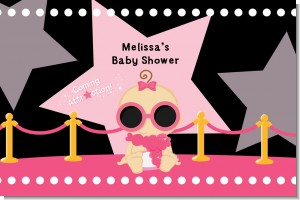 A Star Is Born Hollywood Black|Pink - Personalized Baby Shower Placemats