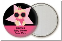 A Star Is Born Hollywood Black|Pink - Personalized Baby Shower Pocket Mirror Favors
