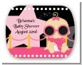 A Star Is Born Hollywood Black|Pink - Personalized Baby Shower Rounded Corner Stickers thumbnail