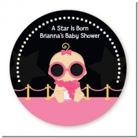 A Star Is Born Hollywood Black|Pink - Personalized Baby Shower Table Confetti