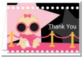 A Star Is Born Hollywood Black|Pink - Baby Shower Thank You Cards