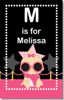 A Star Is Born Hollywood Black|Pink - Personalized Baby Shower Nursery Wall Art