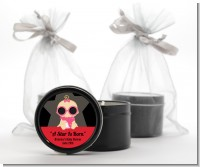 A Star Is Born Hollywood - Baby Shower Black Candle Tin Favors