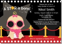 A Star Is Born Hollywood - Baby Shower Invitations