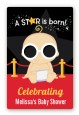 A Star Is Born Hollywood - Custom Large Rectangle Baby Shower Sticker/Labels thumbnail