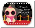 A Star Is Born Hollywood - Personalized Baby Shower Rounded Corner Stickers thumbnail