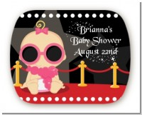 A Star Is Born Hollywood - Personalized Baby Shower Rounded Corner Stickers