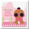 A Star Is Born Hollywood White|Pink - Personalized Baby Shower Card Stock Favor Tags thumbnail