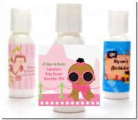 A Star Is Born Hollywood White|Pink - Personalized Baby Shower Lotion Favors