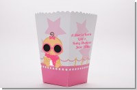 A Star Is Born Hollywood White|Pink - Personalized Baby Shower Popcorn Boxes