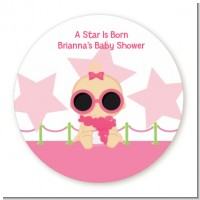 A Star Is Born Hollywood White|Pink - Personalized Baby Shower Table Confetti