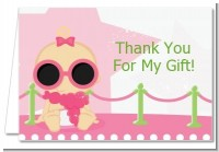 A Star Is Born Hollywood White|Pink - Baby Shower Thank You Cards