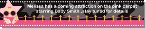 A Star Is Born Hollywood Black|Pink - Personalized Baby Shower Banners