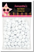 A Star Is Born Hollywood Black|Pink - Custom Baby Shower Treat Bag Topper