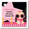 A Star Is Born Hollywood Black|Pink - Personalized Baby Shower Card Stock Favor Tags thumbnail