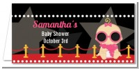 A Star Is Born Hollywood - Personalized Baby Shower Place Cards