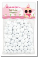 A Star Is Born Hollywood White|Pink - Custom Baby Shower Treat Bag Topper